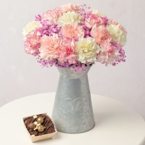 Chocolate Cake Flower Gift